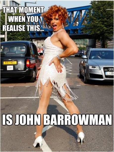 justinhoskie:  madindiewithabox:  John Barrowoman as Wilma Flintstone  Because why wouldn't it be?  omg he's beautiful.
