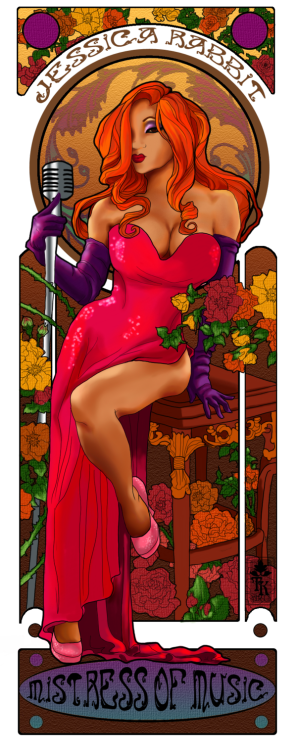 Nouveau Yaya as Jessica Rabbit by ~hatchback-girl