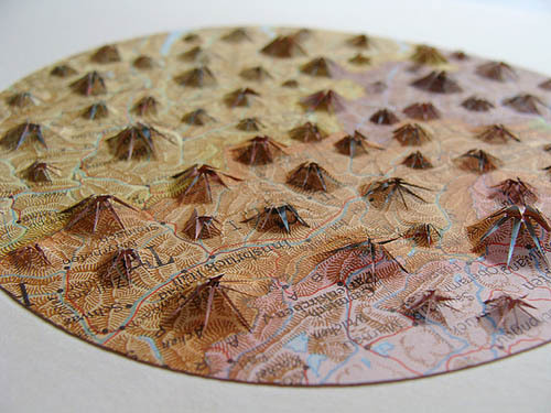 Altered maps by Shannon Rankin