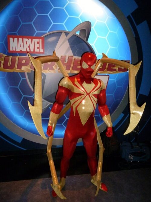 American cosplayer BatmanBeyond-08 as Iron Spider from Marvel ComicsLike this costume? Let him know! Leave a comment on his Coscom:http://www.cosplay.com/photo/3200955/
