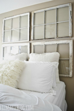 luxuryd3sign:  DIY antique window headboard