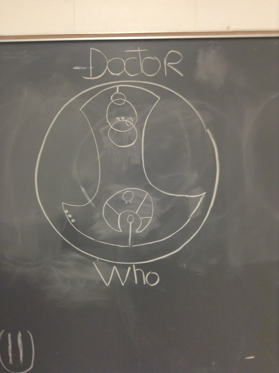 "fantastic-tardis:  Ok , so I made this in my English class out of boredom, there was no one it had not started yet ! So we had a substitute that day, a really cute guy, and he walks in, stare at the class then at the board, then at the class again, he seemed amazed and goes : ""Who wrote ""Fuck You"" in circular gallifreyan , I don't know if I should kiss you or send you to detention """