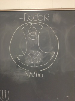 "ladydeleau:  fantastic-tardis:  Ok , so I made this in my English class out of boredom, there was no one it had not started yet ! So we had a substitute that day, a really cute guy, and he walks in, stare at the class then at the board, then at the class again, he seemed amazed and goes : ""Who wrote ""Fuck You"" in circular gallifreyan , I don't know if I should kiss you or send you to detention ""  I ship it."