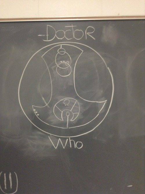 "fantastic-tardis:  Ok , so I made this in my English class out of boredom, there was no one it had not started yet ! So we had a substitute that day, a really cute guy, and he walks in, stare at the class then at the board, then at the class again, he seemed amazed and goes : ""Who wrote ""Fuck You"" in circular gallifreyan , I don't know if I should kiss you or send you to detention ""  So wish I had a sub this cool when I went to school."