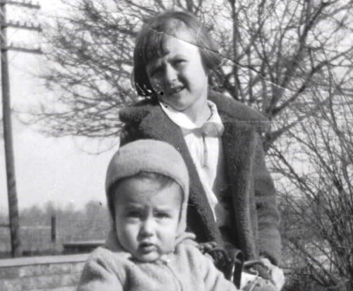 jamesdeandaily:  Baby Jimmy with his cousin, Joan.
