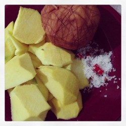 Nangangasim 😁 #apple #mango #santol #salt and #chili #fruits #igersmanila