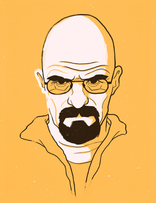 Another portrait, this time it's Walt. You can find this one, the Draper one, and definitely a few more soon enough at my shop.
