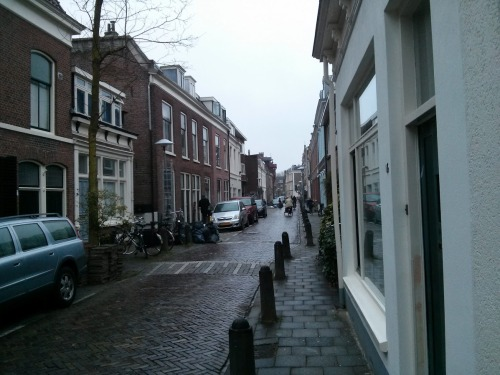 A rainy ride through a neighborhood. In Holland? Nahhhhhh.