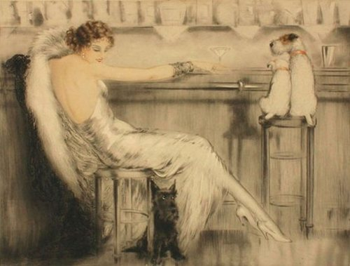 an-imbibing-gentleman:  Le Cocktail, Louis Icart, 1932 (Pastel)  PUB DOG PORN