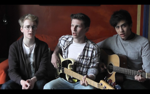 Joined Matt Chan and Charlie Donald to do a cover of One Direction's Little Things - http://snd.sc/ZeFbB1