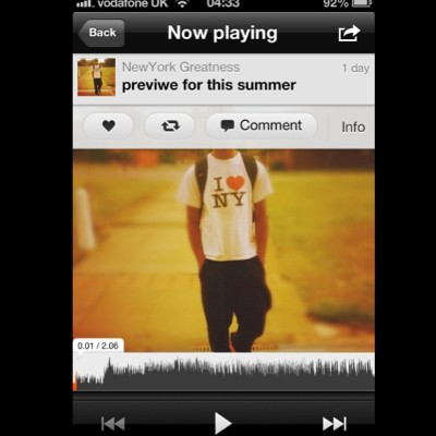 New preview for the #summer… The weathers gettin warmer #soundcloud  #NewYork #Greatness #dope #fresh