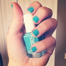 In the cab-ana💅 #essie #nailpolish #blue #summercolor