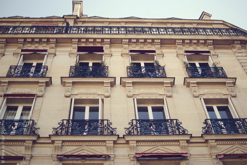 vanilla—scents:  Beautiful Balconies in Paris by Paris in Four Months on Flickr.