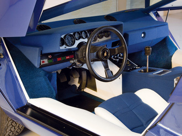 carinteriors:  Interesting colorway on this 1974 Lamborghini Countach LP400