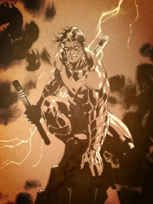 joearlikelikescomics:  Nightwing by Jim Lee  Jim Lee, you have few rivals…