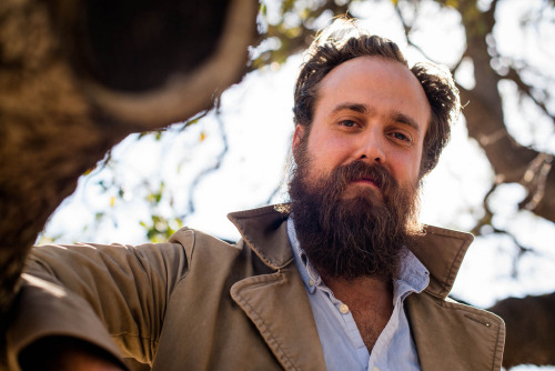 "Sam Beam of Iron & Wine. His brand new album Ghost on Ghost is out this week (4/16) on Nonesuch Records! Check out ""Singers and the Endless Song"" below:   (photo by Dave Lichterman via kexplive)"