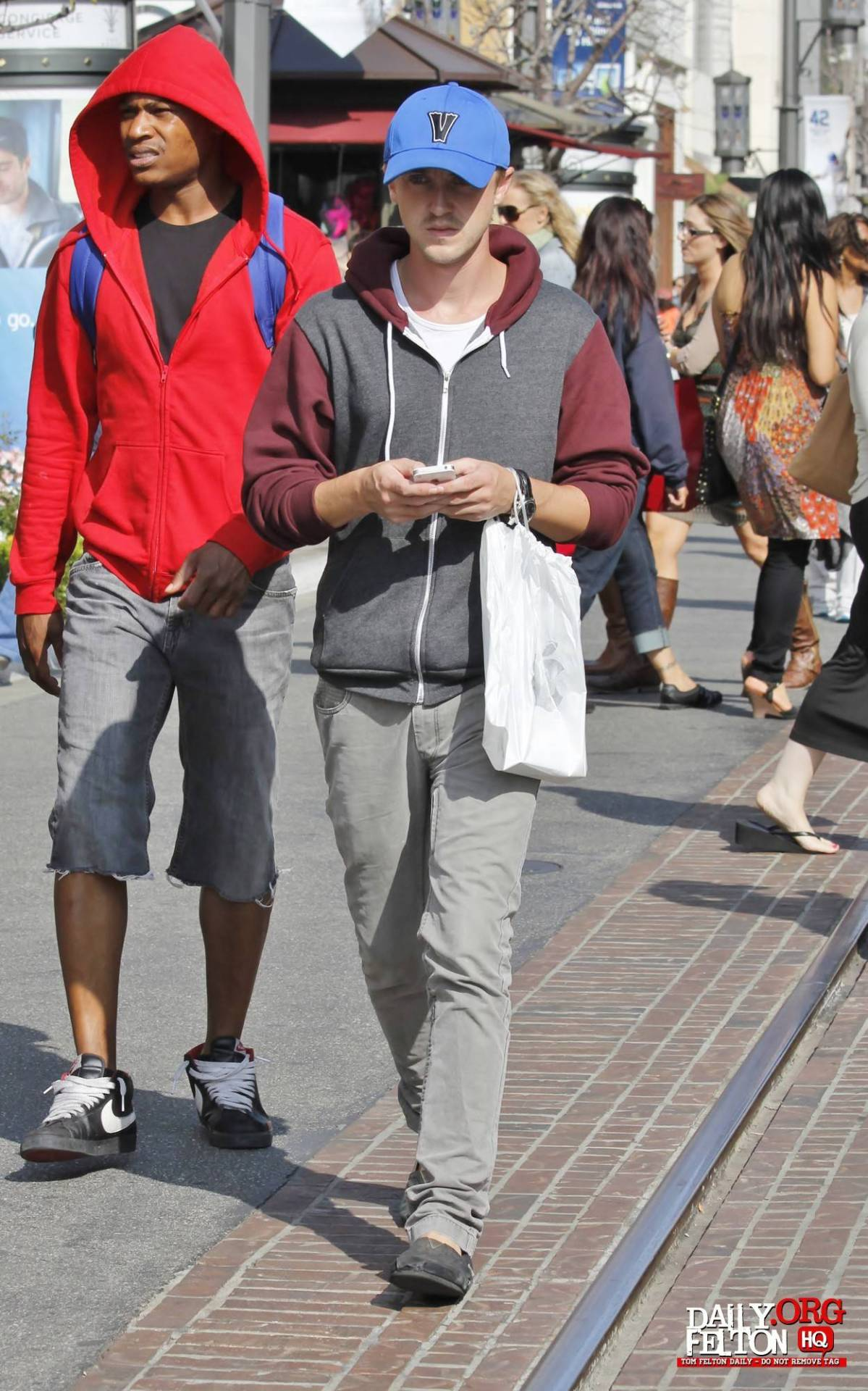 tomfeltonandjadeoliviagordonxoxo:  HQ-Tom at The Grove in L.A. 4/5/2013.  Tom Felton <3