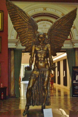 vwcampervan-aldridge:  *Lucifer* , Bronze by Sir Jacob Epstein, Birmingham Art Gallery, Birmingham, England. Today is the 1st Anniversary of vwcampervan-aldridge, these are some of the most popular pictures I have taken from the year. http://www.tumblr.com/blog/vwcampervan-aldridge