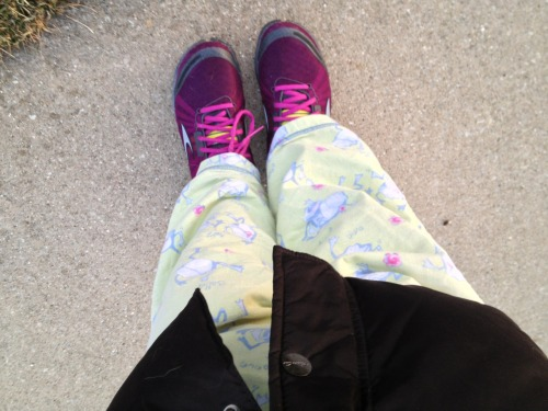 Good morning! Good 'cause it's a dancin' frog pajamas, purple ninja sneakers, golden glow on the horizon sunrise, quiet serene smile morning here. Just sayin'. :)  April 3, 2013