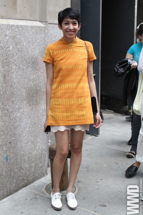 womensweardaily:  They Are Wearing: Comme des Garçons New York Market Market