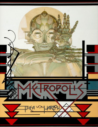 transceiverfreq:   monsterman: Metropolis by Thea von Harbou  Read this and learn a bit about one of the collaborators on this artwork.  This is something special to see come across my tumblr dashboard. This is connected directly to my family. My father, Patrick Smith, designed the cover for this and did the layout and typesetting for the inside. He worked as a graphics designer from the 1975-2011. He liked to explain to me that his designs here were inspired by Frank Lloyd Wright decorative flourishes and Art Deco. I came to love these styles very dearly thanks to my fathers eyes. This is the cover of the last printing of the book from 1977. None have come since. Most people are aware of the movie. Most are unaware it was a novel first and I can honestly say I was lucky to have read this when I was 12. It is what started my love of all things future and my hope for it. This beautiful artifact sat on our coffee table at my fathers home and I would read it over and over.  The artwork is by Michael Kaluta and the original artwork and a preliminary sketch by Michael hangs over my fathers Amiga 3000 at his home in Virginia Beach, VA not far from another FLW house. Right over the Amiga I first learned MIDI usage on. Right next to the first analog synth I ever played. I remember being 13 and hearing my father emulate Vangelis on his MIDI controller and I would read this laid out on the floor. My father has grown ill as of late. This is part of my families history and a pleasure to see here on tumblr.
