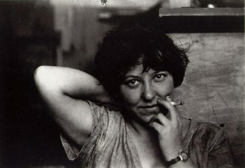 Alexander Rodchenko - Stepanova with a Cigarette, 1924