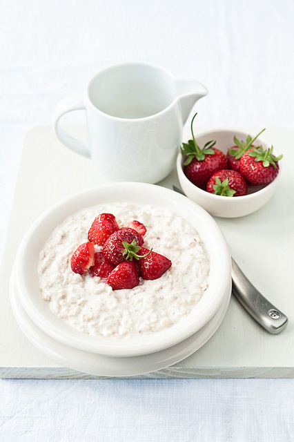 Strawberry and ricotta porridge by sarka b on Flickr.