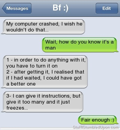 tactical-facepalm:  Funny Text Messages – Autocorrect Fail – Computer Jokes http://tactical-facepalm.tumblr.com/