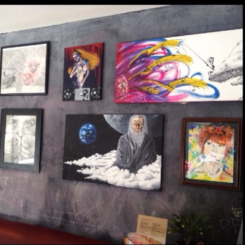 My art is hanging up at Outsiders Hair Studio already! Check it out anytime and come to the Art Social this Saturday May 25th! I would really appreciate any support ☺.  Prints for $30, 2 for $50 & 3 for $60.   100 N Arlington Suite 104  Right next to Imperial and connected to Whiskey downtown.   #art #gallery #exhibit #outsiders #hair #father #time #music #sound #shroom #dj #ponder #girl #think #stare #deamau5 #turtle #openyourcrown