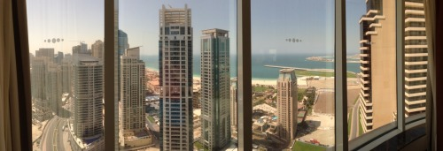 View from the hotel in Dubai, nice relaxing weekend before going back into the thick of things.