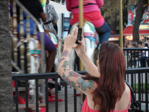 A tattooed mom. Los Angeles County Fair, September 2012.