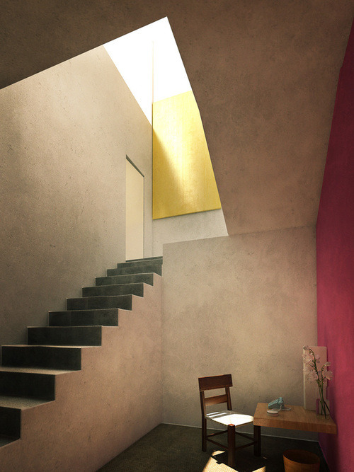 mythologyofblue:  A room of one's own. [Image: Lasse Rode, Luis Barragán House and Studio, Mexico City]