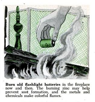 "The good old days.  ""Burn old batteries in the fireplace…"""