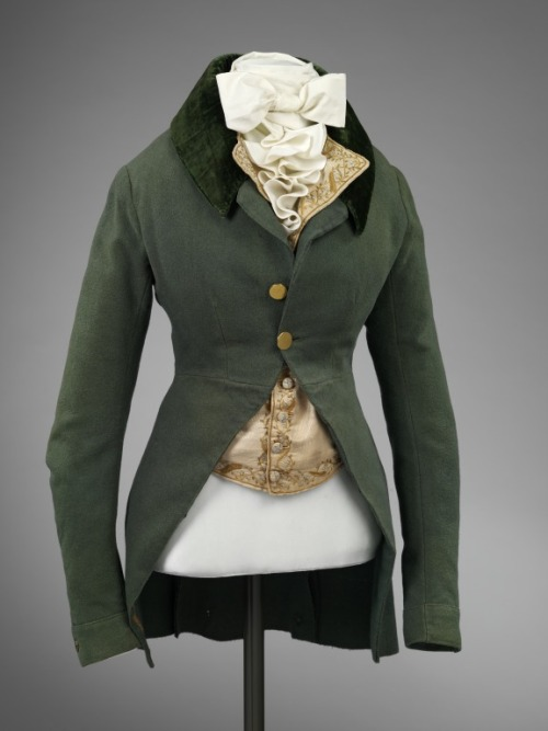 omgthatdress:  Lady's Riding Habit 1790s The Victoria & Albert Museum