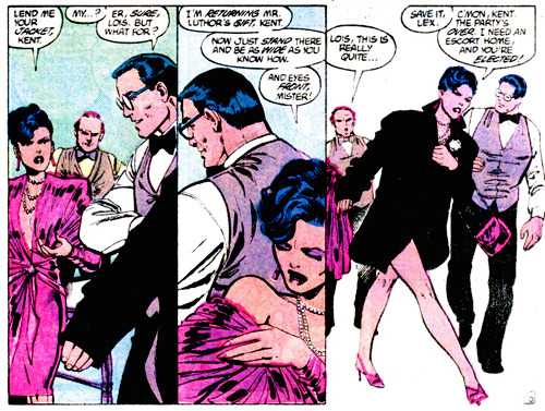 ruthgilmartin:  [The Man of Steel #04]  -Lois gets dress -Lois finds out it's from Lex Luthor -Lois takes it off in the middle of the freaking party and throws it in his face -Lois doesn't screw around -Lois is flawless
