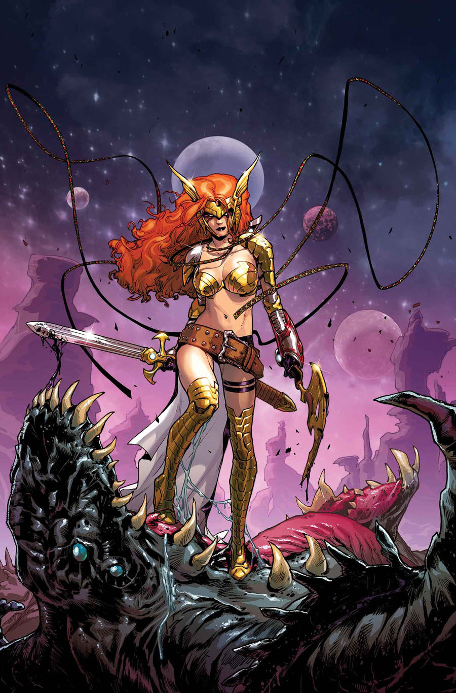 keaneoncomics:  Angela (in her new Joe Quesada redesign) by Sara Pichelli.
