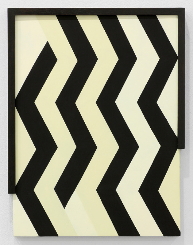 mdme-x:  Laeh Glenn Untitled (Zig Zag), 2012 Oil on panel, wood 16 1/2 x 12 3/4 in. (41.91 x 32.39 cm)
