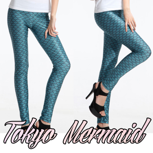 shop-cute:  Mermaid Scale Leggings $25.00