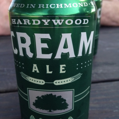 "Hardywood Cream Ale at Hardywood Park Craft Brewery. ""Can"" you dig it? http://elxr.co/p/4o6"