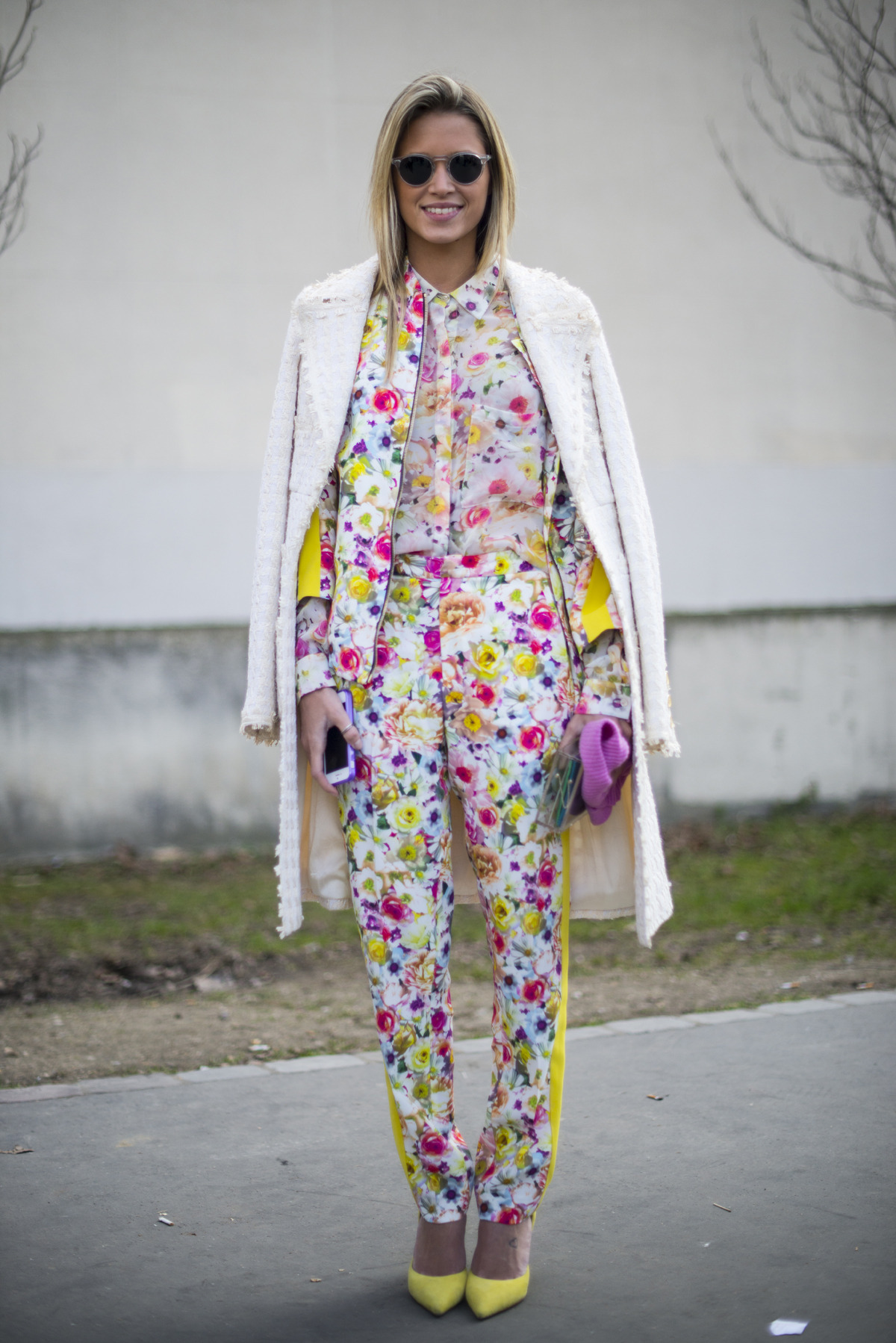 topshop:  Flower go flashy and bloom all over.  Like the al-over florals