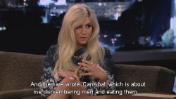 Ke$ha on writing songs with her mom.