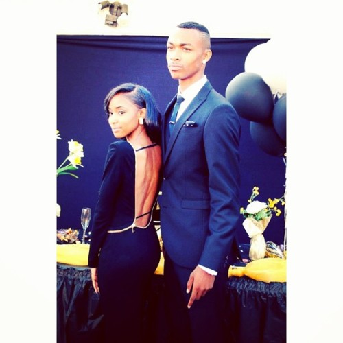 Nelly and Mykel 🙌. Prom 2013.