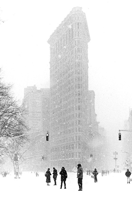 Flat Iron Building in the snow