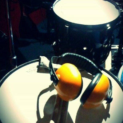 Working on our 3rd EP :) facebook.com/kissbone #drums #drum #snare #music #kissbone #studio