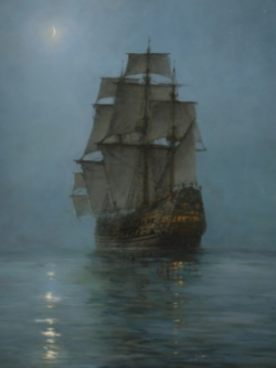 The Crescent Moon - Montague Dawson