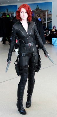 team-barricade:  my black widow cosplay.