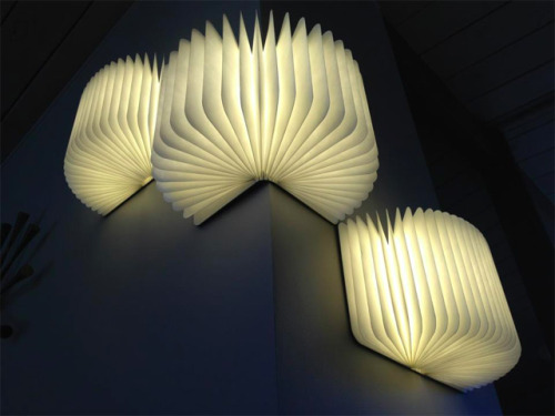 The Lumio is a portable light that folds up just like a book and when opened it becomes illuminated from within. The light is embedded with magnets so it can be mounted on a wide variety of surfaces and when fully charged it remains lit for 8 hours. The Lumio was designed by architect Max Gunawan who launched it as a Kickstarter project just three days ago where demand has been great the project is already 240% funded. Learn more here.