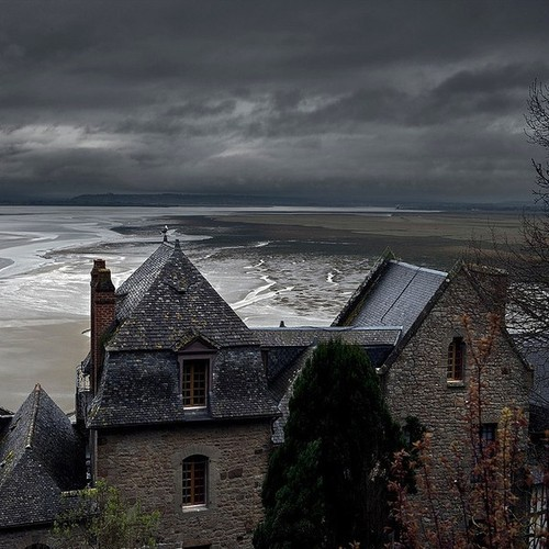 bluepueblo:   Stormy Sea, Mont Saint Michel, France photo via cathy