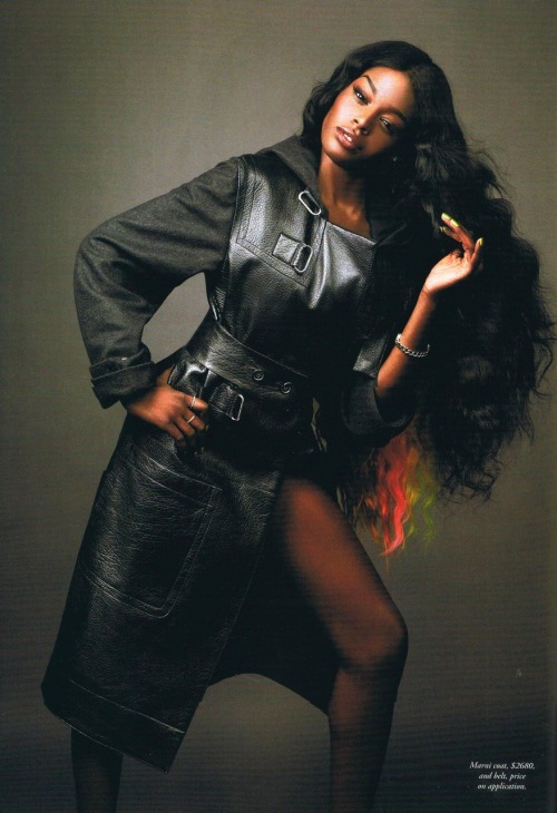 fyeahblackhippy:  blackandkillingit:  headnegress:  HQ Scan of Azealia Banks in Harper's Bazaar Australia  Black Girls Killing It Shop BGKI NOW  Love this chick.