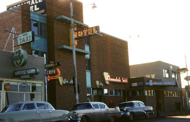 Cromdale Hotel, Edmonton, 1950s and demolition in 2012.